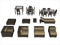 Dining table revit components dining table for Outdoor furniture revit