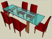 Sketchup components 3d warehouse furniture 3d for Kitchen set 3d warehouse
