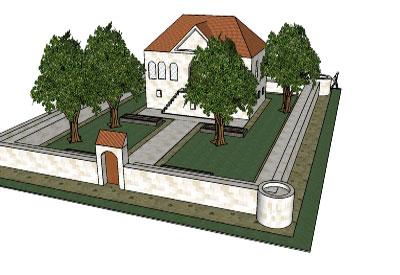 Sketchup components 3d warehouse garden house with garden for Garden design sketchup 8