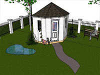 Shed Garden in Sketchup