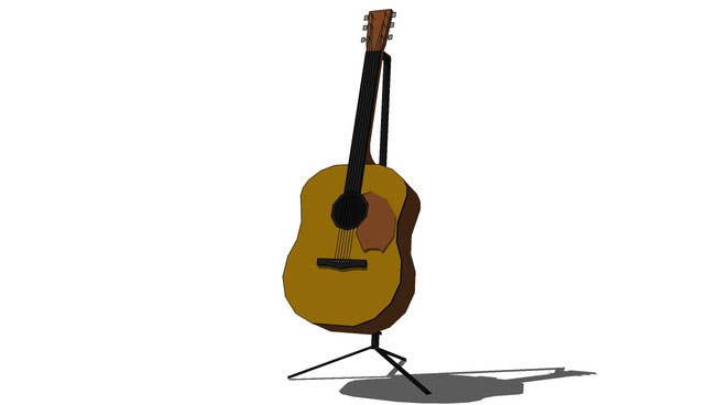 Guitar stand with accoustic guitar