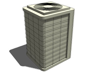 3D Air conditioner unit in sketchup