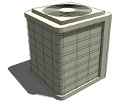 3D Air conditioner unit smaller dimension in sketchup