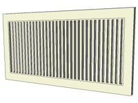 3D Heating Register Grill in sketchup