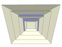 3D Square diffuser in sketchup