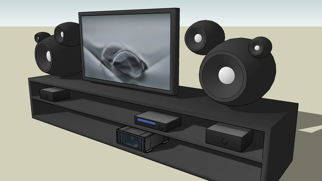 Sketchup components 3d warehouse home theater including tv for Outdoor furniture 3d warehouse