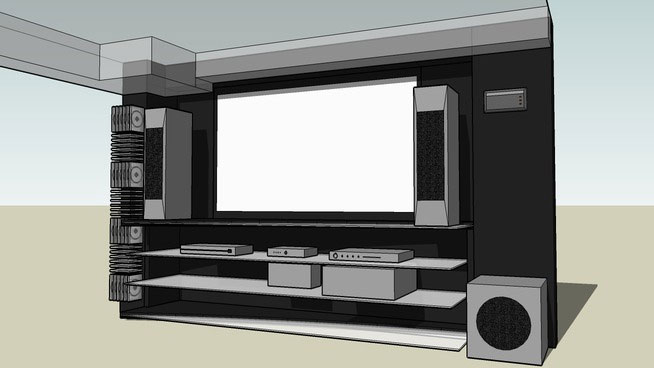 Sketchup components 3d warehouse home theater for Outdoor furniture 3d warehouse
