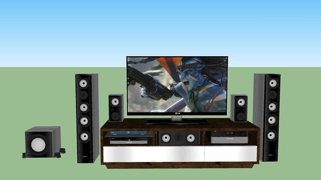 Home theater with LG