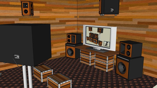 Sketchup components 3d warehouse home theater audio system for Outdoor furniture 3d warehouse