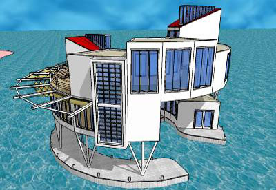 Sketchup components 3d warehouse home floating modern home for Google house design
