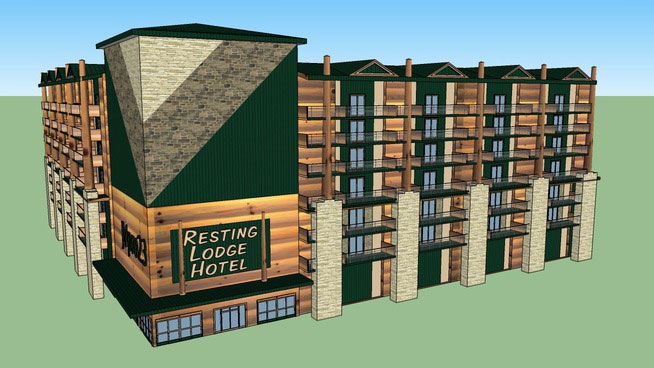 SketchUp Components 3D Warehouse - Hotel | 3D Hotel Component