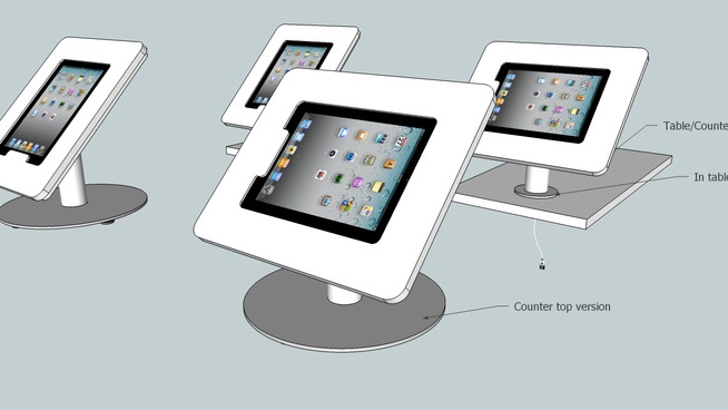 Apple iPad Counter stand
