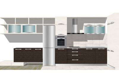 black and white kitchen in sketchup - Sketchup Kitchen Design