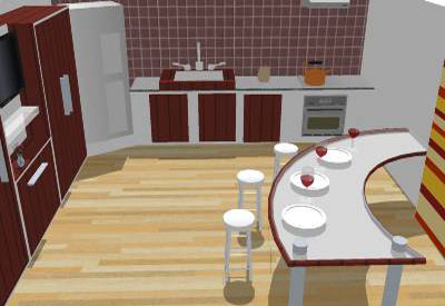 kitchen interiod model in sketchup - Sketchup Kitchen Design