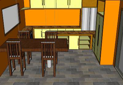 Sketchup components 3d warehouse kitchen modern kitchen for Kitchen set 3d warehouse