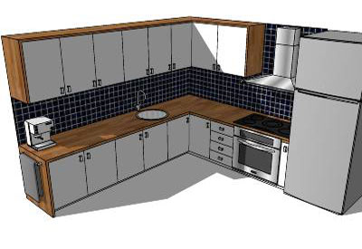 simple kitchen in sketchup small kitchen in sketchup - Sketchup Kitchen Design
