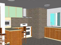 Apartment Kitchen in SketchUp