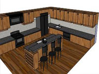 Awsome Kitchen in SketchUp