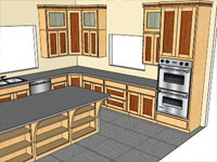 Classic Kitchen in SketchUp