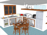 Clean Kitchen in SketchUp