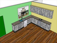 Kitchen Basic Components in SketchUp