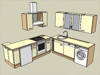Parts of Kitchen in SketchUp