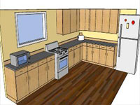 Some Kitchen Plan in SketchUp