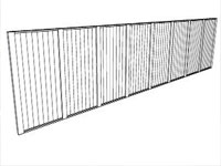 Configurable Fence Model in Sketchup