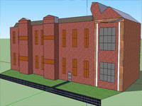 College Library in Sketchup