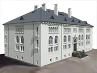 Cultural Heritage Library in Sketchup