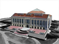 Doe Library in Sketchup