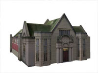 Heywood Public Library in Sketchup