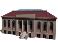 Magoon & Macdonald Library in Sketchup