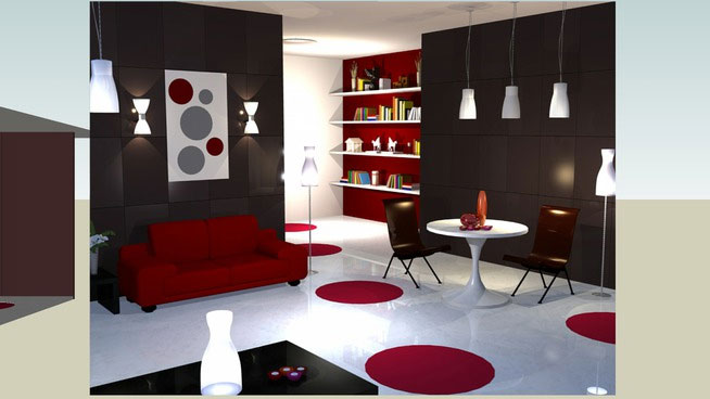 3d models of living room living room 3d model 3d for Model living room design