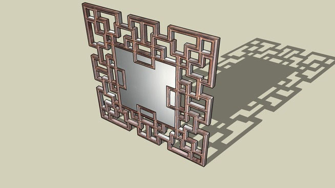Sketchup components 3d warehouse mirror wall mirror for Mirror in sketchup