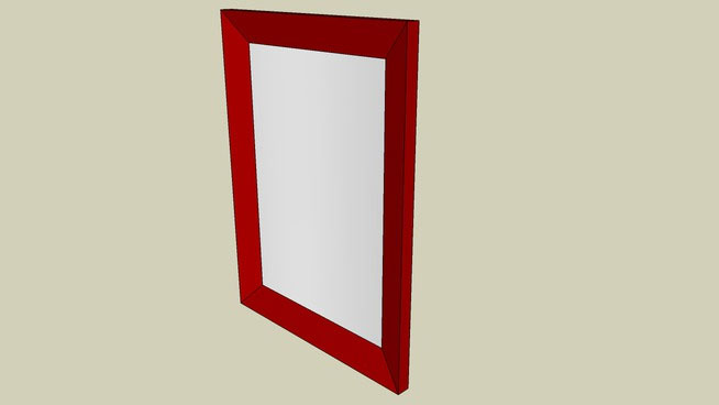 Sketchup components 3d warehouse mirror rectangular wall for Mirror in sketchup