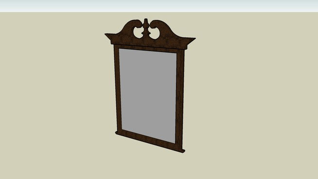 Sketchup components 3d warehouse mirror victorian mirror for Mirror in sketchup