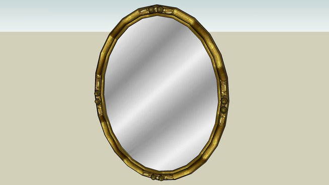 Sketchup components 3d warehouse mirror antique gold mirror for Mirror in sketchup