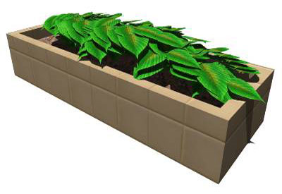 Sketchup components 3d warehouse plants poly plant for Outdoor furniture 3d warehouse