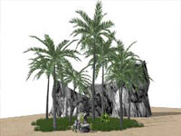 Sun 'n' Palms in Sketchup