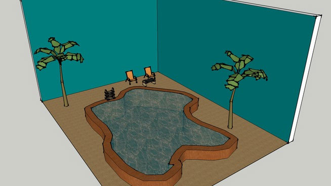 Sketchup components 3d warehouse pool natural pool for Pool design sketchup