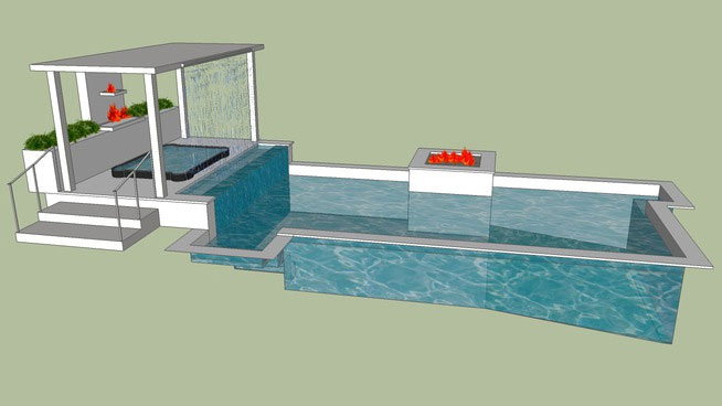 Google sketchup 3d warehouse components download for Pool design sketchup