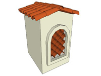 3D Red Tile Chimney Top