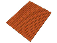 3D Red Tile Roof Field