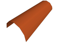 3D Single Red Roofing Tile