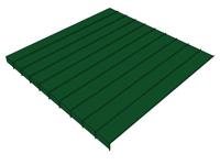 3D Standing Seam Roofing 24 inch