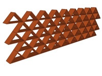 3D Triangular red Tile Grate