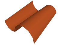 3D Two Red Roofing Tiles