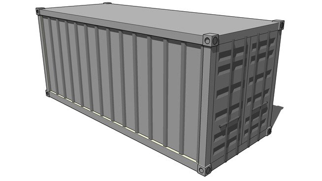 Shipping Container Model Design In Sketchup Free 3d Shipping Container Download