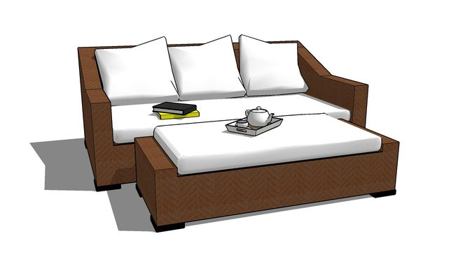 Sketchup components 3d warehouse sofa outdoor sofa for Outdoor furniture 3d warehouse
